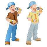 Singer - Vector Character Illustration Royalty Free Stock Photos