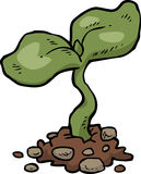 Cartoon young sprout Royalty Free Stock Photography