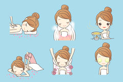 Cartoon Massage Royalty Free Stock Photos Image 12135958