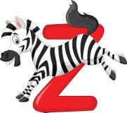 Cartoon zebra with alphabet Z Royalty Free Stock Image