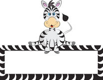 Cartoon zebra Royalty Free Stock Photos