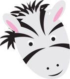 Cartoon zebra face Stock Photography