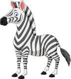 Cartoon Zebra Isolated On White Background Stock Photography