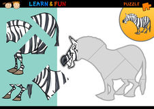 Cartoon zebra puzzle game Royalty Free Stock Photography