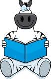Cartoon Zebra Reading Royalty Free Stock Photos