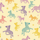 The cartoon zebra seamless. Royalty Free Stock Photo