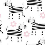 Cartoon zebra Seamless pattern Stock Images