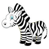 Cartoon zebra vector illustration Royalty Free Stock Photos