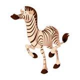 Cartoon zebra Royalty Free Stock Photo