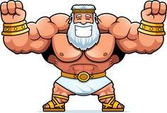 Cartoon Zeus Celebrating. A cartoon illustration of Zeus celebrating Stock Image