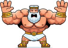 Cartoon Zeus Scared. A cartoon illustration of Zeus looking scared Royalty Free Stock Images