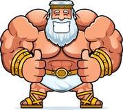 Cartoon Zeus Thumbs Up. A cartoon illustration of Zeus with thumbs up Stock Photo