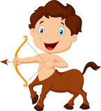 Cartoon Zodiac symbol sagittarius Stock Image