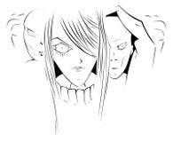 Cartoon zombie. Zombie in cartoon sketch style Stock Photo