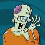 Cartoon zombie. Cartoon illustration of funny zombie stock illustration
