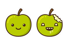 Cartoon zombie apple Royalty Free Stock Photo