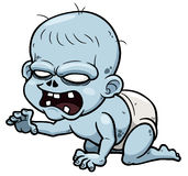 Cartoon zombie baby Stock Images