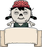 Cartoon Zombie Banner Stock Image
