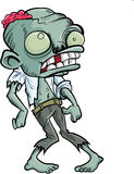Cartoon zombie with a big head. Isolated on white Stock Photos