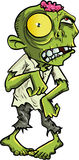 Cartoon zombie with a big yellow eye Royalty Free Stock Photo