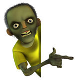Cartoon zombie boy Royalty Free Stock Images