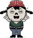 Cartoon Zombie Celebrate Royalty Free Stock Image