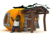 Cartoon Zombie Character Stock Image