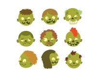 Cartoon zombie character isolated Stock Photo