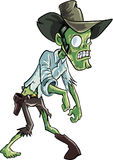 Cartoon zombie cowboy Royalty Free Stock Image