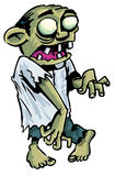 Cartoon zombie with exposed brain. Stock Images