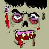 Cartoon Zombie face Royalty Free Stock Image