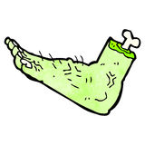 cartoon zombie foot Royalty Free Stock Photo
