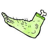 cartoon zombie foot Royalty Free Stock Photo