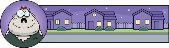 Cartoon Zombie Halloween Graphic Stock Photography