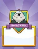 Cartoon Zombie Halloween Graphic Stock Images