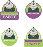 Cartoon Zombie Halloween Graphic Royalty Free Stock Photos