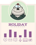 Cartoon Zombie Halloween Graphic Royalty Free Stock Image
