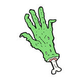Cartoon zombie hand Royalty Free Stock Images