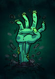 Cartoon Zombie Hand Stock Photos