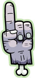 Cartoon Zombie Hand. A cartoon zombie hand pointing Royalty Free Stock Image