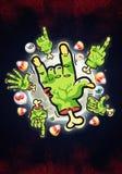 Cartoon Zombie Hands Stock Photos