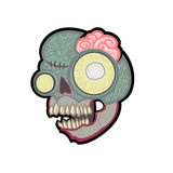 Cartoon zombie head. Vector illustration. Stock Image