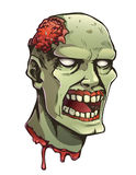 Cartoon zombie head Royalty Free Stock Photo
