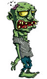 Cartoon zombie isolated on white Royalty Free Stock Image