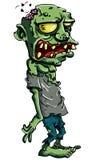 Cartoon zombie isolated on white stock illustration