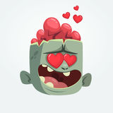 Cartoon zombie in love. Halloween vector illustration. Cartoon zombie in love. Halloween vector illustration Stock Photos