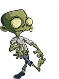 Cartoon zombie with ripped clothes. Cartoon zombie with huge eyes ripped clothes Royalty Free Stock Image