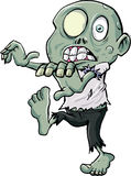 Cartoon zombie stalking Royalty Free Stock Photo