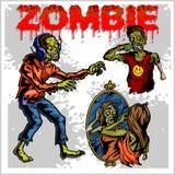 Cartoon zombie - vector set Stock Photo