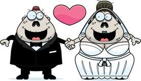 Cartoon Zombie Wedding Royalty Free Stock Photos